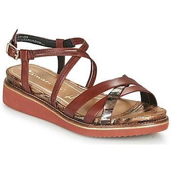 Topánky Ženy Sandále Tamaris EDA Hnedá
