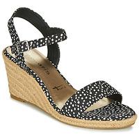 Topánky Ženy Sandále Tamaris LIVIA Čierna / Biela