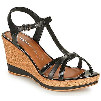 Topánky Ženy Sandále Tamaris VESILA Čierna