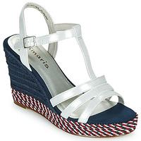 Topánky Ženy Sandále Tamaris CYNARA Biela / Námornícka modrá / Červená