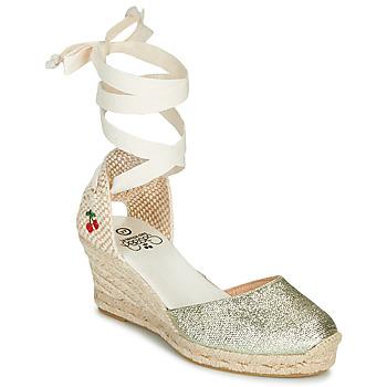 Topánky Ženy Sandále Le Temps des Cerises POLY Zlatá