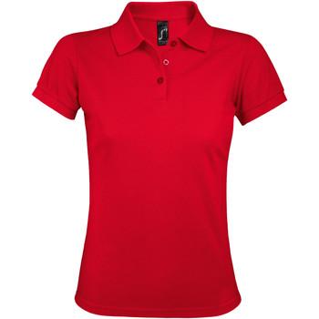 Oblečenie Ženy Polokošele s krátkym rukávom Sols PRIME ELEGANT WOMEN Rojo