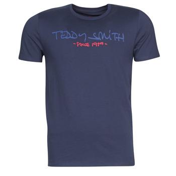 Oblečenie Muži Tričká s krátkym rukávom Teddy Smith TICLASS Námornícka modrá