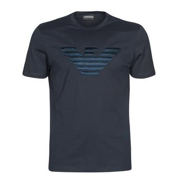 Oblečenie Muži Tričká s krátkym rukávom Emporio Armani DOUNIA Námornícka modrá