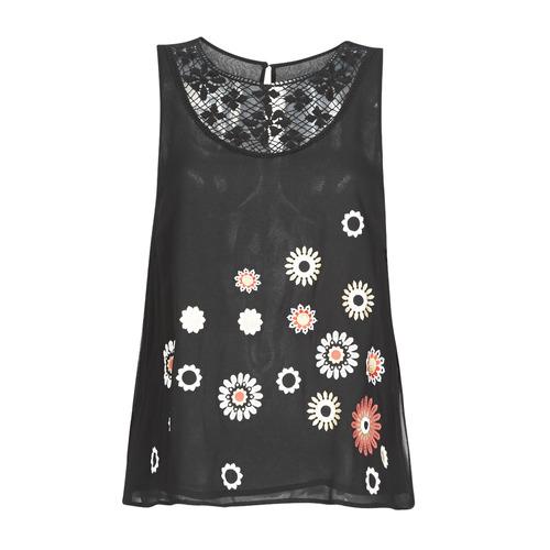 Oblečenie Ženy Tielka a tričká bez rukávov Desigual TEBAS Čierna