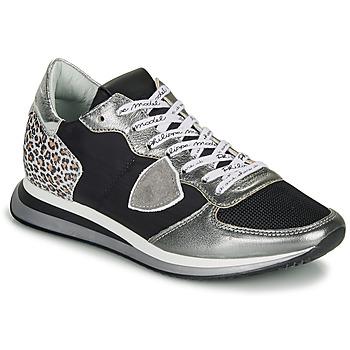 Topánky Ženy Nízke tenisky Philippe Model TROPEZ X Čierna / Strieborná