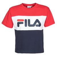 Oblečenie Ženy Tričká s krátkym rukávom Fila ALLISON Námornícka modrá / Červená / Biela
