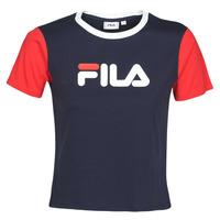 Oblečenie Ženy Tričká s krátkym rukávom Fila Salome Námornícka modrá / Červená