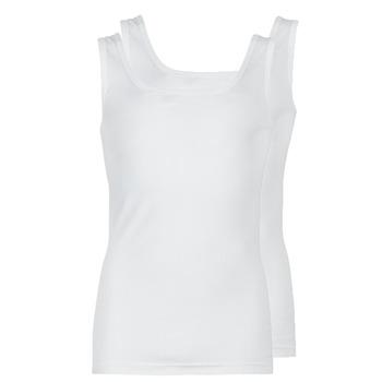Oblečenie Muži Tielka a tričká bez rukávov Athena COTON BIO Biela