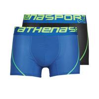Spodná bielizeň Muži Boxerky Athena AIR PERFORMANCE Čierna / Modrá