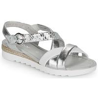 Topánky Ženy Sandále Gabor KRIZI Strieborná