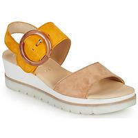 Topánky Ženy Sandále Gabor KOKREM Béžová / Žltá