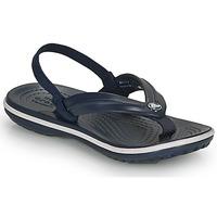 Topánky Deti Žabky Crocs CROCBAND STRAP FLIP K Námornícka modrá