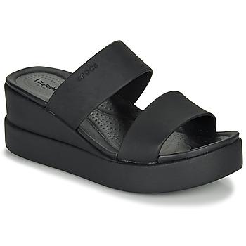 Topánky Ženy Sandále Crocs CROCS BROOKLYN MID WEDGE W Čierna