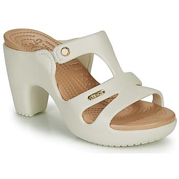 Topánky Ženy Šľapky Crocs Cyprus V Heel W Biela