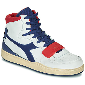Topánky Muži Členkové tenisky Diadora MI BASKET USED Biela / Modrá / Červená
