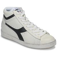 Topánky Členkové tenisky Diadora GAME L HIGH WAXED Biela / Čierna