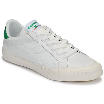 Topánky Ženy Nízke tenisky Diadora MELODY LEATHER DIRTY Biela / Zelená