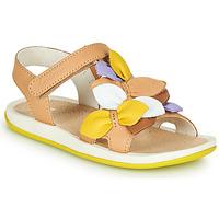 Topánky Deti Sandále Camper TWINS Hnedá / Žltá