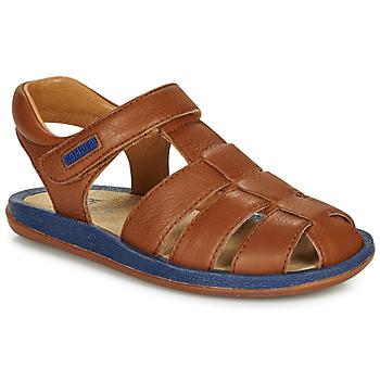 Topánky Deti Sandále Camper BICHO Hnedá / Námornícka modrá