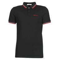 Oblečenie Muži Polokošele s krátkym rukávom Ben Sherman SIGNATURE POLO Čierna / Červená / Biela
