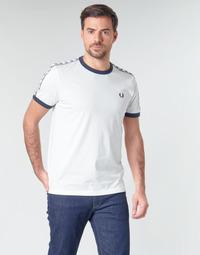 Oblečenie Muži Tričká s krátkym rukávom Fred Perry TAPED RINGER T-SHIRT Biela