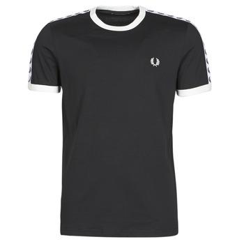 Oblečenie Muži Tričká s krátkym rukávom Fred Perry TAPED RINGER T-SHIRT Čierna