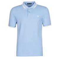 Oblečenie Muži Polokošele s krátkym rukávom Fred Perry TWIN TIPPED FRED PERRY SHIRT Modrá