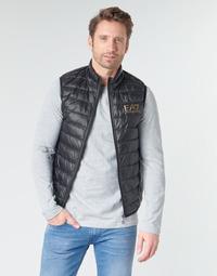 Oblečenie Muži Vyteplené bundy Emporio Armani EA7 CORE ID 8NPQ02 Čierna / Zlatá