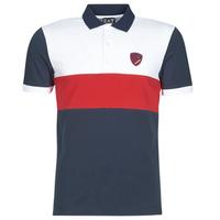 Oblečenie Muži Polokošele s krátkym rukávom Emporio Armani EA7 SEA WORLD ST TROPEZ Námornícka modrá / Biela / Červená