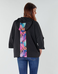 Oblečenie Ženy Mikiny Emporio Armani EA7 TRAIN GRAPHIC SERIES W HOODIE CN GRAPHIC INSERT Čierna / Kvetovaná / Viacfarebná