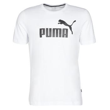 Oblečenie Muži Tričká s krátkym rukávom Puma ESSENTIAL TEE Biela