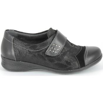 Topánky Derbie & Richelieu Boissy Derby 7510 Noir Texturé Čierna