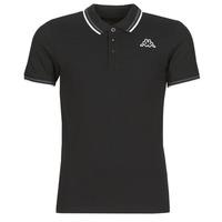 Oblečenie Muži Polokošele s krátkym rukávom Kappa ESMO Čierna