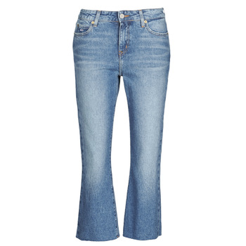 Oblečenie Ženy Rovné Rifle  Tommy Jeans KATIE CROP FLARE Modrá / Medium