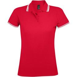Oblečenie Ženy Polokošele s krátkym rukávom Sols PASADENA MODERN WOMEN Rojo