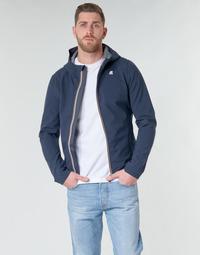 Oblečenie Muži Bundy  K-Way JACK BONDED Námornícka modrá