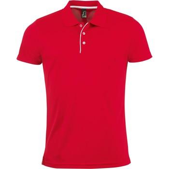 Oblečenie Muži Polokošele s krátkym rukávom Sols PERFORMER MEN SPORT Rojo