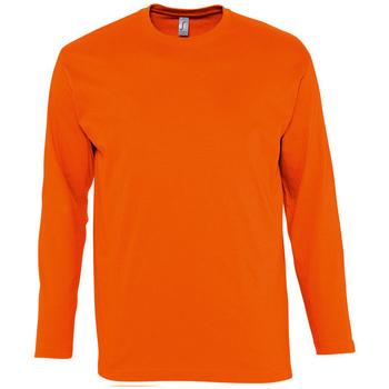 Oblečenie Muži Tričká s dlhým rukávom Sols MONARCH COLORS MEN Naranja