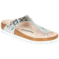 Topánky Ženy Žabky Birkenstock GIZEH Strieborná