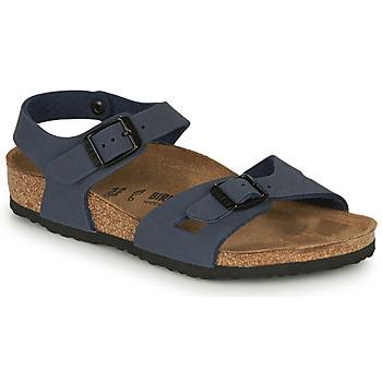 Topánky Deti Sandále Birkenstock RIO Námornícka modrá