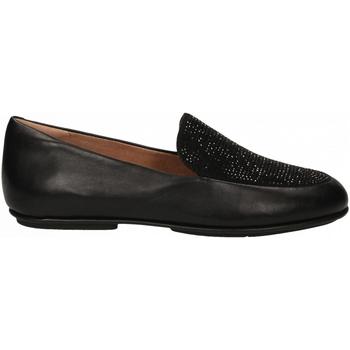 Topánky Ženy Mokasíny FitFlop LENA CRYSTAL LOAFER black
