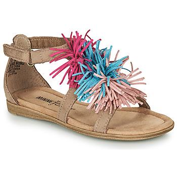 Topánky Dievčatá Sandále Minnetonka ELOISE Hnedošedá