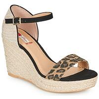 Topánky Ženy Sandále S.Oliver NOULATI Čierna / Leopard