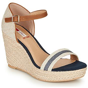 Topánky Ženy Sandále S.Oliver NOULATI Béžová / Námornícka modrá