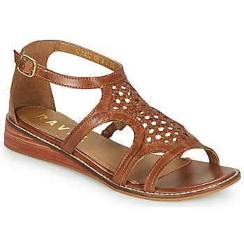 Topánky Ženy Sandále Ravel CARDWELL Svetlá hnedá
