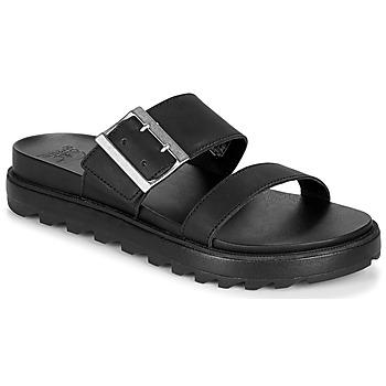 Topánky Ženy Sandále Sorel ROAMING BUCKLE SLIDE Čierna
