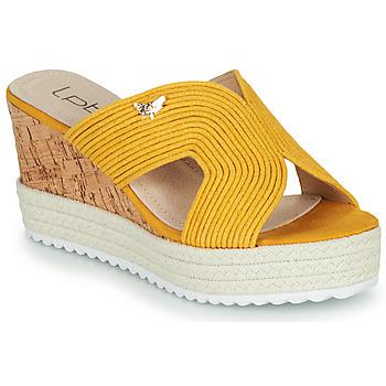Topánky Ženy Šľapky Les Petites Bombes LIDY Žltá horčicová