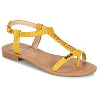 Topánky Ženy Sandále Les Petites Bombes EMILIE Žltá horčicová