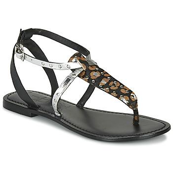 Topánky Ženy Sandále Les Petites Bombes ALIX Čierna / Strieborná